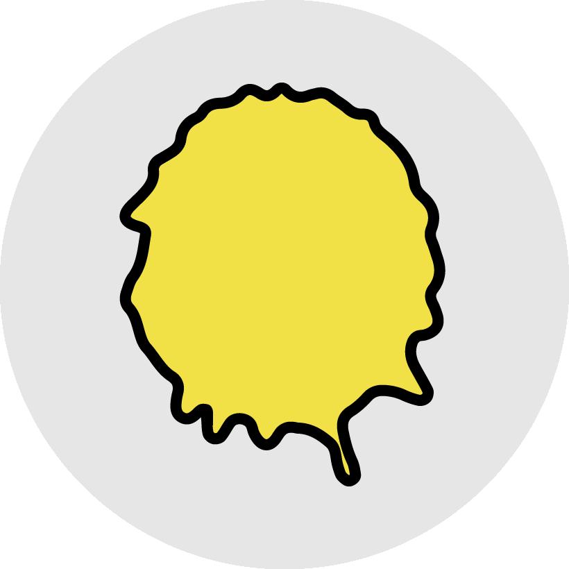 gul fläck